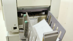 Copy of document on photocopier Stock Footage