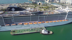 Refueling at the Port of Miami - stock footage