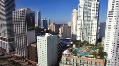 Aerial slow motion of Downtown Miami Stock Footage