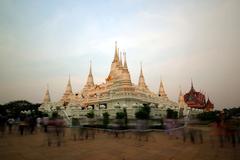thai temple wat asokaram - stock photo
