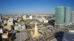 Downtown Miami Panoramic aerial video Stock Footage