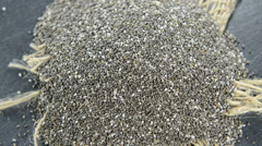 Chia seeds background video (not loopable) Stock Footage