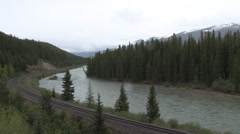 Bow River - Banff National Park - Alberta - Canada Stock Footage