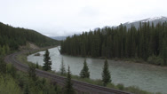 Stock Video Footage of Bow River - Banff National Park - Alberta - Canada