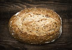Loaf of multigrain artisan bread Stock Photos