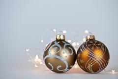 Stock Photo of golden christmas ornaments