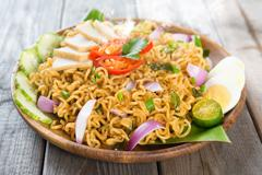 malaysian cuisine maggi goreng mamak - stock photo