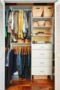 Stock Photo of organized closet