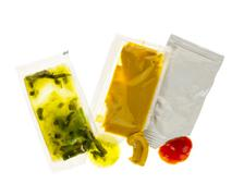 condiment packets - stock photo
