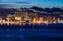 Havana (Habana) at night - stock photo