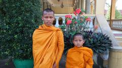 Monks boys Stock Footage