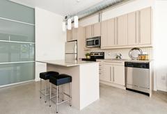 Stock Photo of modern condo kitchen