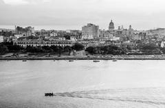 Havana (Habana) in Black and White - stock photo