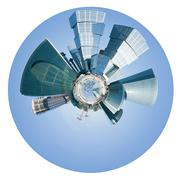 Stock Illustration of spherical view of moscow city