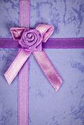 gift ribbon on box - stock photo