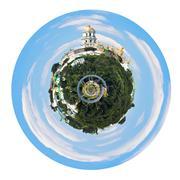spherical view of kiev pechersk lavra - stock illustration