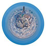 spherical cityscape of paris - stock illustration