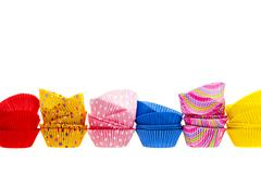 Muffin or cupcake baking cups Stock Photos
