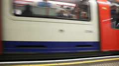 Inside Station in London. Stock Footage