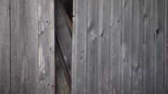 Barn door closes Stock Footage
