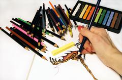 Artistic Activity - Drawing - stock photo