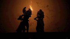 Wayang Kulit shadow puppet show Stock Footage