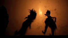 Wayang Kulit shadow puppet show Stock Footage