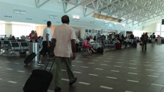 San Juan Puerto Rico airport departure gates fast HD 1904 Stock Footage