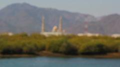 UAE.Al Fujayrah.Khor Kalba.Mosque. Stock Footage