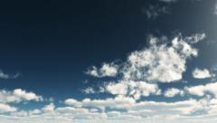 Sky summer 3D 01 Stock Footage
