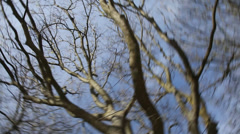 Round trolley effect of the tree Stock Footage