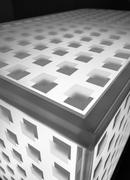 Abstact metal cube background Stock Photos