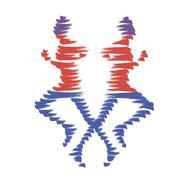 Vector running man icon Olympiad - stock illustration