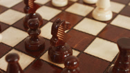 Stock Video Footage of Strategic position, chessboard, chess in ultra HD - 4K