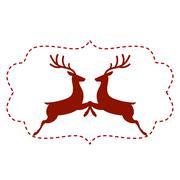 Vector illustration of deer Stock Illustration