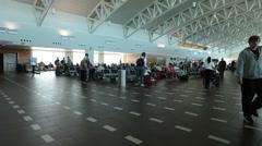 San Juan Puerto Rico airport passenger departure gates fast HD 1905 Stock Footage
