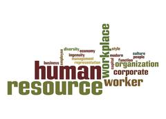Human resource word cloud Stock Illustration
