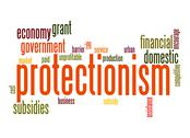Stock Illustration of protectionism word cloud