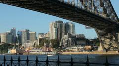 Sydney harbour bridge, australia Stock Footage