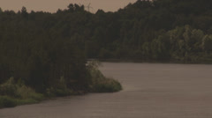 River amoung Carpatian Mountains in the evening Stock Footage