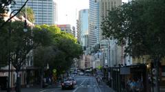 Street scene, george street, the rocks, sydney, australia Stock Footage