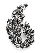 women's jewelry, decorative brooch - stock photo