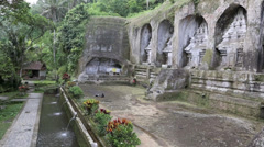 Gunung Kawi, an 11th-century temple complex Stock Footage