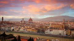Sunset over Florence, Italy Stock Footage