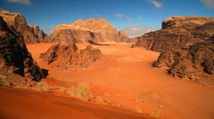Stock Video Footage of Wadi Rum desert, Jordan