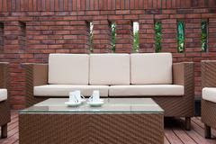 Outdoor furniture - stock photo
