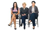 Stock Photo of Group of business women sit on chair