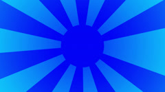 Spinning blue rising sun HD Stock Footage