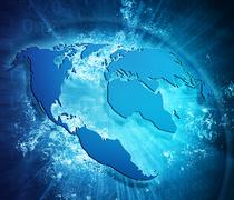 Internet concept of global business Stock Illustration