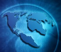 internet concept of global business - stock illustration